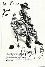 George Melly signed 6 x 4 b/w photo to Brian.