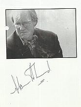 Alan Howard signed 6 x 4 magazine photo fixed to