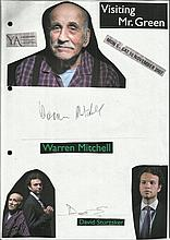 Cast of Visiting Mr Green, Warren Mitchell and