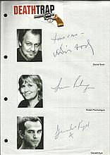 Cast of Deathtrap, David Soul, Susan Penhaligon