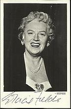 Gracie Fields signed vintage 6 x 4 black and white