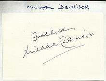 Michael Dennison signed autograph on 6x4 card.