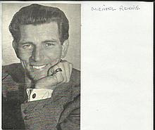Michael Rennie signed b/w photo, Rare autograph 25