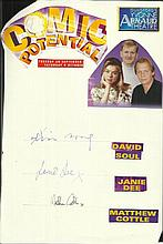 Cast of Comic Potential, David Soul, Janie Dee and