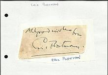 Eric Portman irregular cut large autograph fixed