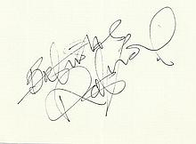 Robert Lindsay signed large autograph on 6 x 4