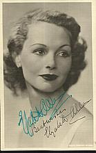 Elizabeth Allen signed vintage 6 x 4 sepia photo.