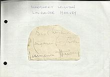 Margaret Leighton and Laurence Harvey signed
