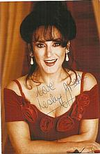 Lesley Joseph signed colour 6x4 photo. Attached to