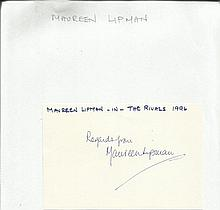 Maureen Lipman signed 6 x 4 white card Good
