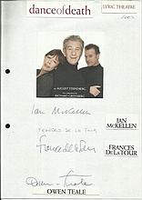 Cast of Dance of Death, Ian Mckellen, Frances De