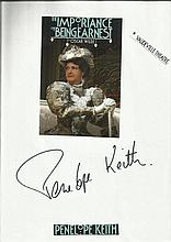 Penelope Keith signed A4 white sheet with magazine