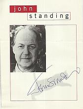 LOT454 - John Standing signed magazine photo. Good