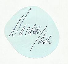 Dinsdale Lander irregular cut autograph Fixed to