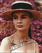 Jean Simmons signed lovely 10 x 8 colour portrait