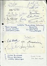 Lord Taverners Originators autographs, two