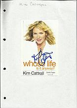 Kim Cattrall signed magazine photo fixed to white