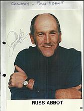 Russ Abbot signed 10 x 8 colour portrait photo,