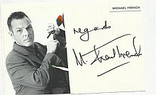 Michael French signed large autograph on 6 x 4