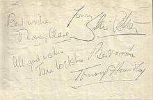 Tommy Handley, Jane Welsh, and Mary Clare signed