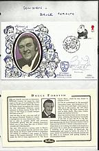 Bruce Forsyth signed Heroes of Comedy FDC. Good