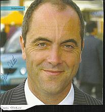 James Nesbitt signed 8 x 8 colour magazine photo.
