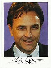 Brian Capron signed 6 x 4 colour photo fixed to A4
