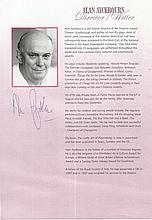 Sir Alan Ayckbourn CBE signed magazine article.