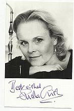Sheila Gish signed small b/w photo. Good condition