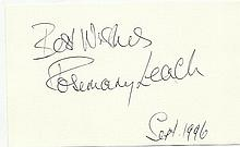 Rosemary Leach signed large autograph on 6x4 card.