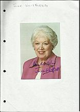 June Whitfield signed 6 x 4 colour portrait photo.