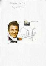 Patrick Duffy signature piece with magazine photo