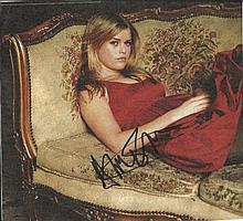 Alice Eve signed colour magazine photo. Good