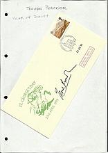 Trevor Peacock signed 1994 St Georges Day cover