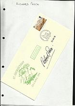Richard Pasco signed 1994 St Georges Day cover