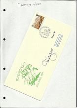 Timothy West signed 1994 St Georges Day cover Good