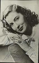 Valerie Hobson signed small vintage photo. Good
