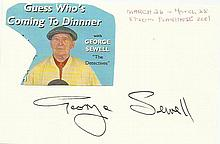 George Sewell signed large autograph on 6x4 card.