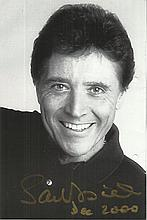 Sacha Distel signed 8 x 6 b/w magazine photo fixed
