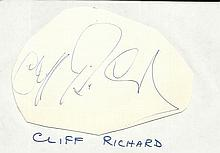 Cliff Richards signed large autograph on 6 x 4