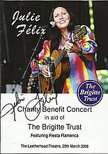 Julie Felix signed to outside of 2008 Charity