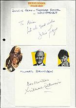 Dulcie Gray and Michael Dennison autographs on A4