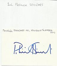 Sir Patrick Stewart signed large autograph on