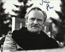 Julian Glover Black and white 8x10 photo autographed by actor Julian Glover who starred in Star Wars: The Empire Strikes Back and the James Bond film For Your Eyes Only. Good condition
