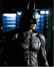 Christian Bale 8x10 colour photo of Christian as Batman, signed by him at Exodus London Premiere, 2014 Good condition