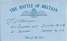 Dennis Adams 611- 41 sqn Battle of Britain signed index card. Good condition