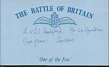 Robin L. Applesford 66 Sqn Battle of Britain signed index card. Good condition