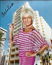 Sheila Reid signed colour 10x8 photo.  Seen here as her character Madge Harvey in Benidorm. Good condition