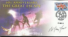 Jimmy James MC Lovely full colour first day cover from 2006 dedicated to the 60th Anniversary of the Great Escape, Whitehall London postmark. Autographed by Great Escape veteran Bertram Arthur