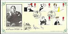 Stephen Fry Unusual 1998 Bradbury official first day cover dedicated to the playwright Oscar Wilde and autographed by top British comedian, presenter and actor Stephen Fry. Fry famously portrayed Wilde in the 1997 film of the same name. He is also